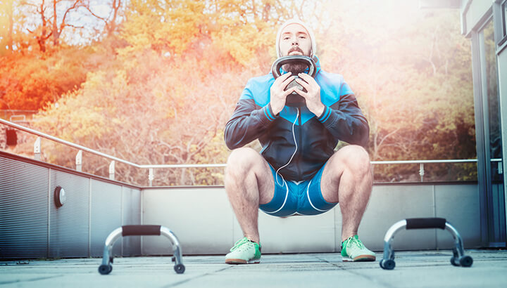 Squats can help to strengthen your Kegels.