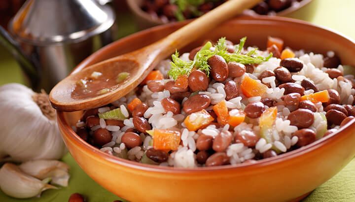 Vegetable proteins, along with rice and beans, can help make up a healthy diet.