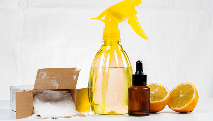 Vinegar and other natural ingredients are great cleaners.