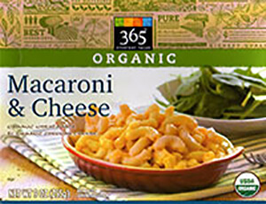 365 Organic mac and cheese
