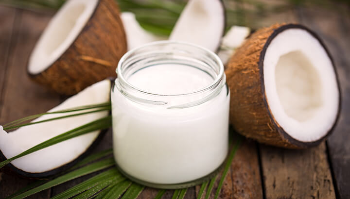 A coconut oil massage is said to promote the health of breasts.