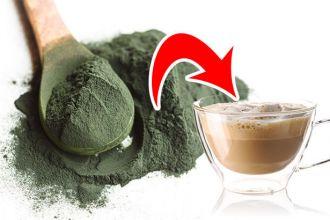 Add spirulina to your coffee