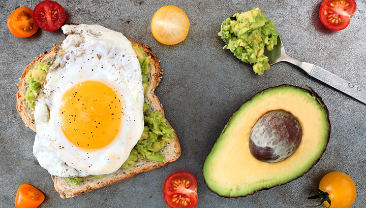At breakfast time, make sure to eat a healthy meal for a great start to your day.