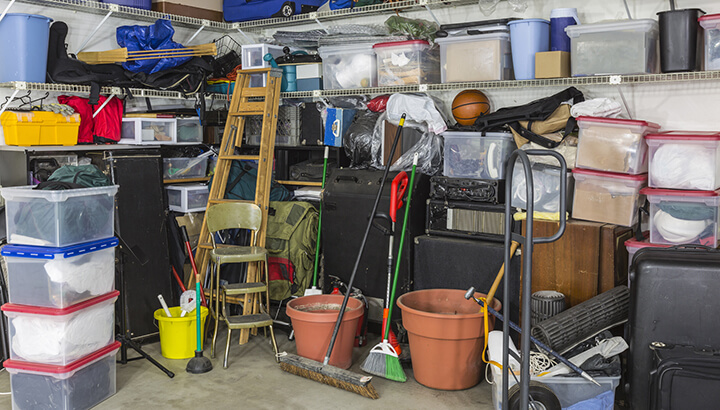 Declutter your garage with the whole family for best results.