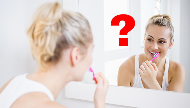 Do oil pulling before you brush your teeth every morning