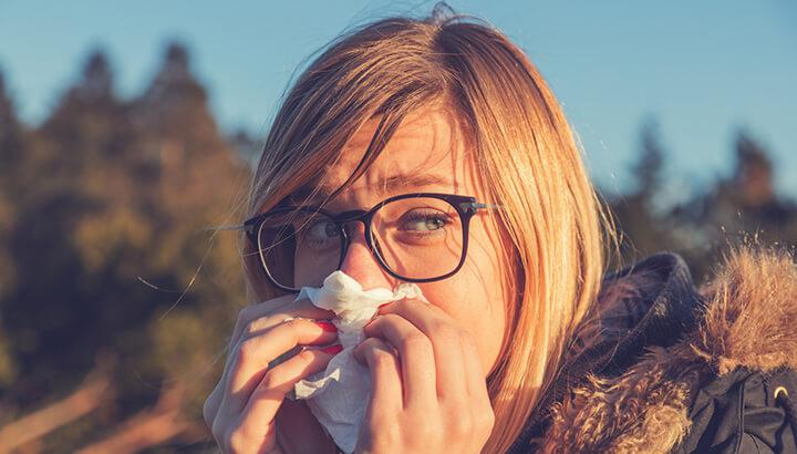 Drinking lemons in warm water can help combat allergies.