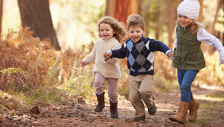 Encourage minimalism by getting kids outside instead of buying them stuff.