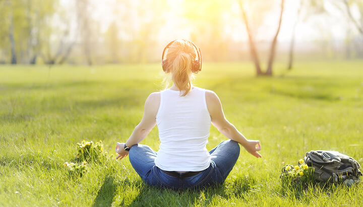 Guided meditation may help you combat depression naturally.