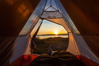 If you're having trouble sleeping, camping may help
