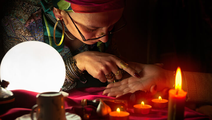 Palm reading can be traced back thousands of years.