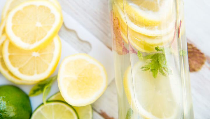 Rather than cold water, drink warm water with lemon.