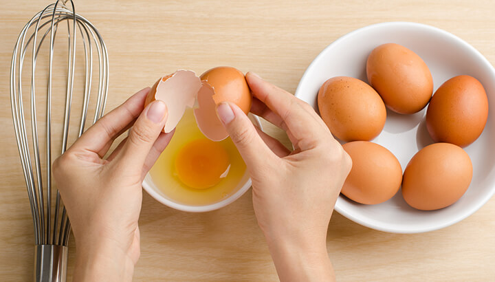 Rather than using Egg Beaters, opt for real, organic eggs