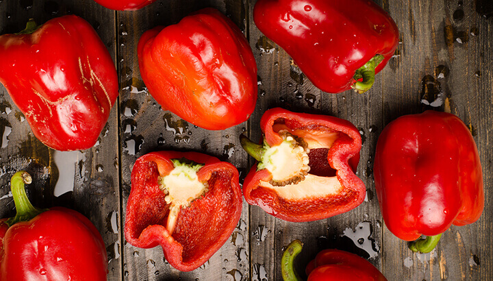 Red bell peppers contain loads of vitamin C to boost your immune system.