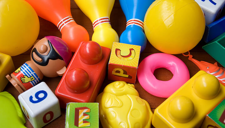 To reduce your reliance on plastic, trade plastic toys for wooden ones.
