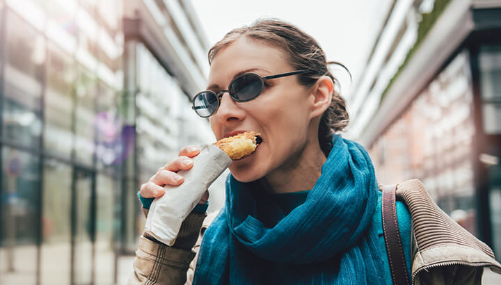 When your body is acidic, eating white flour doesn't help.