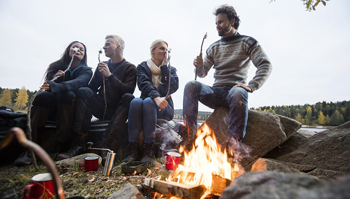 The sources of natural light while camping may help reset your sleep cycle.