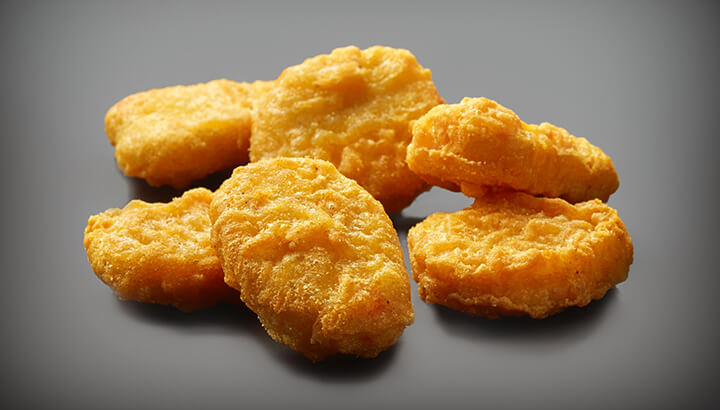 Chicken McNuggets at McDonald's are less calories than burgers.