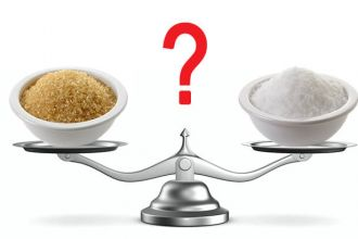 Coconut sugar versus white sugar