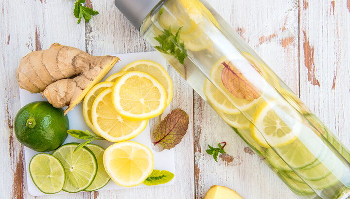 Drinking filtered water with lemon can help with a heavy metals detox.