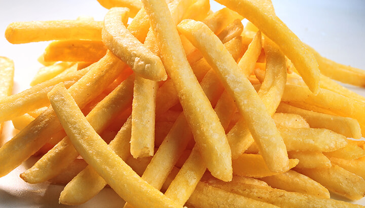 French fries from McDonald's are soaked in vegetable oil