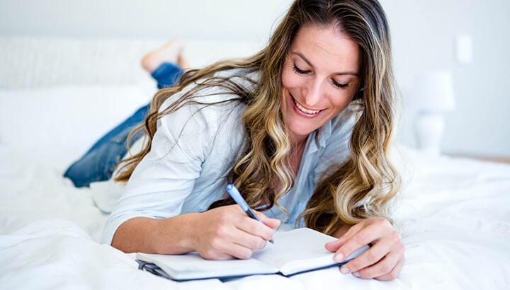 Keeping a dream journal can help unlock creativity