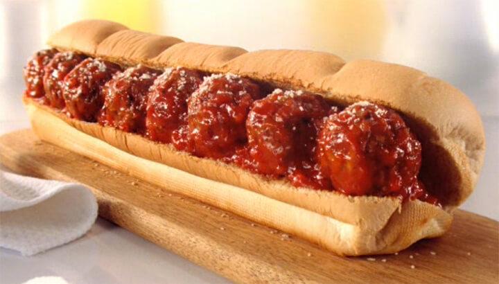 Meatball Marinara sandwich (Courtesy of Subway.com)