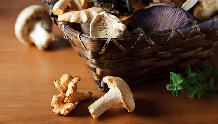 Mushrooms are a great natural source of vitamin D.