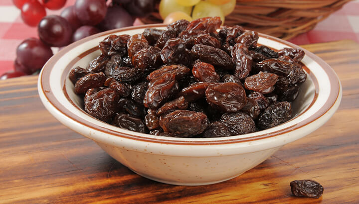 Nocturia may be reduced with a handful of raisins.