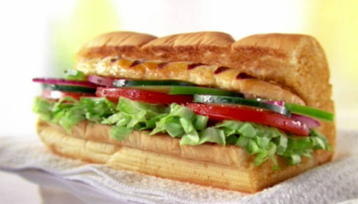 Oven Roasted Chicken sandwich (Courtesy of Subway.com)