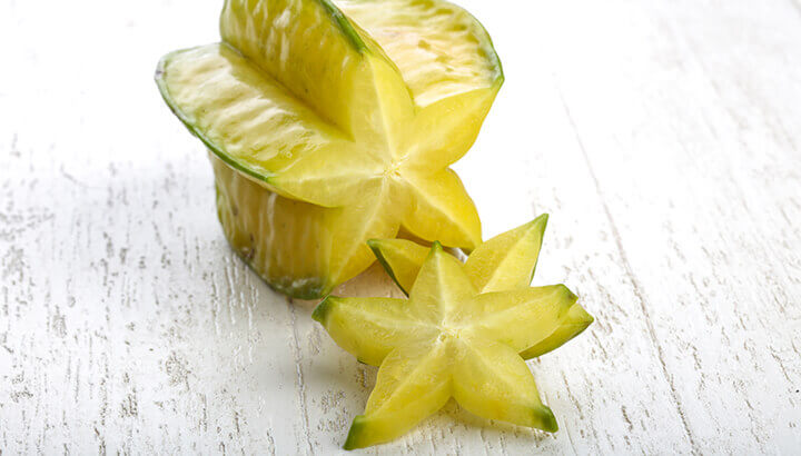 The yellow starfruit is as nutritious as it is beautiful.