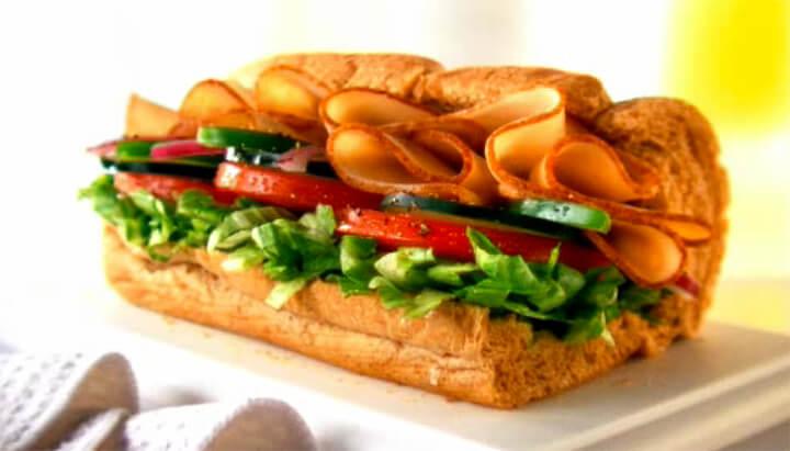 Turkey Breast sandwich (Courtesy of Subway.com)