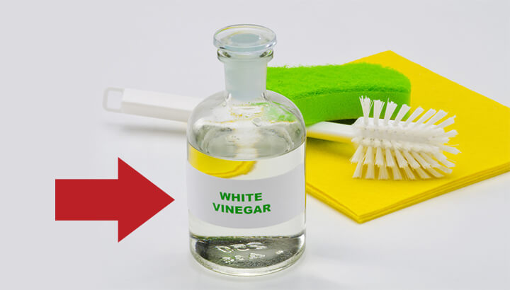 Use white vinegar for natural cleaning