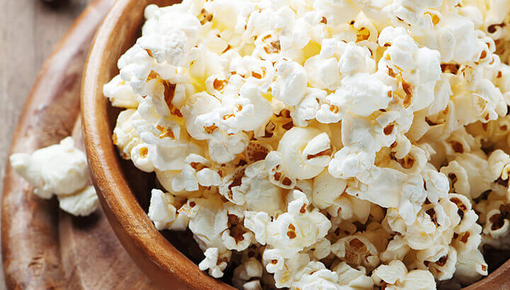 A light snack before bed, like popcorn, can help you avoid nightmares.