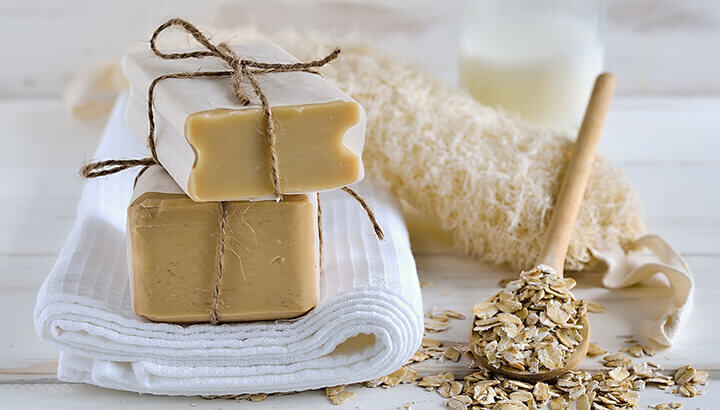 Add oatmeal to your bath to nourish your skin.