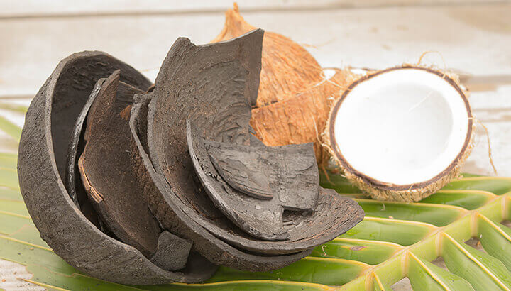 Always look for activated charcoal from a natural source, like coconut shells.