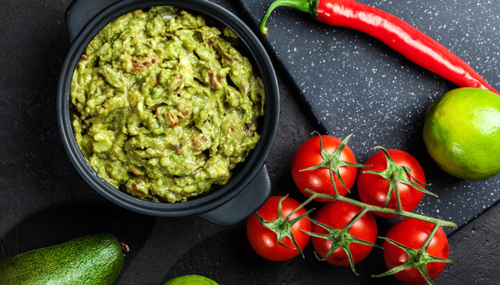 Avocados can easily be turned into guacamole for a healthy snack.