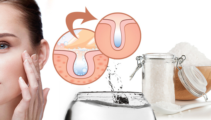 Benefits of salt water on skin