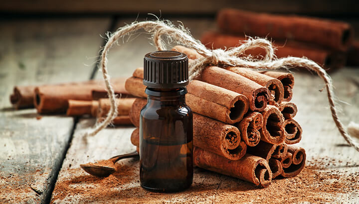 Cinnamon oil is strong enough to keep mosquitoes away.