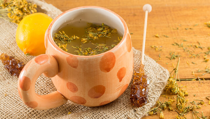 Drink St. John's wort tea to improve your mood while you quit smoking.