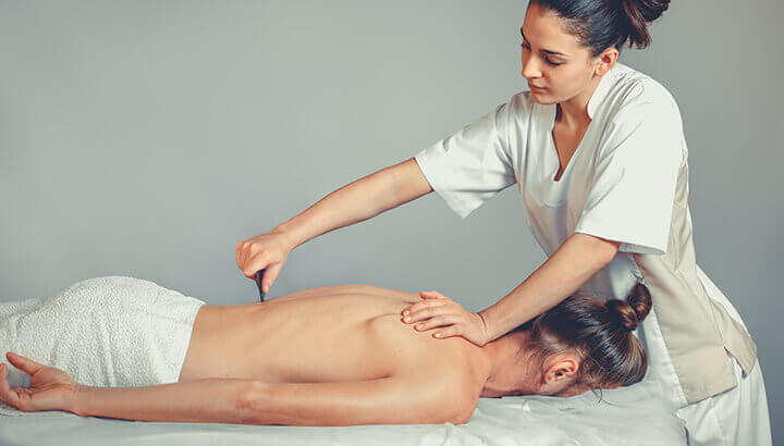 Gua sha can help with chronic back and neck pain.