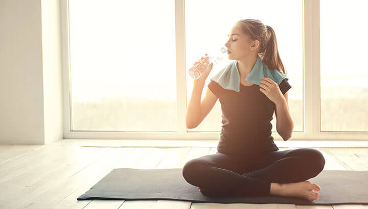 If you take a Bikram yoga class, make sure to bring water.