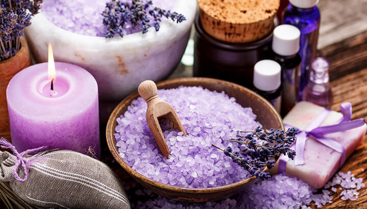 Lavender oil can be used for health and beauty.