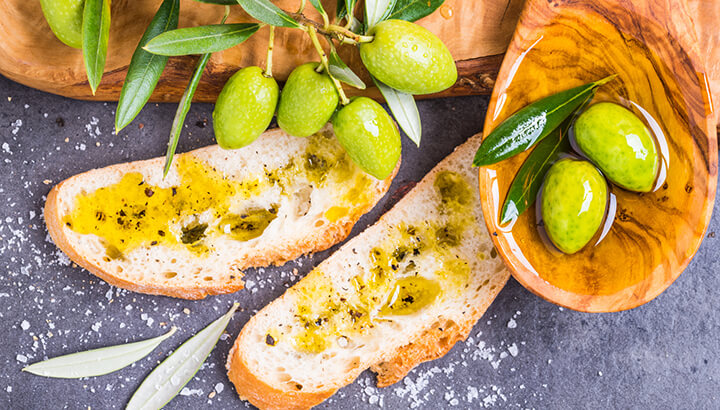Olive oil is a key part of the Mediterranean diet.