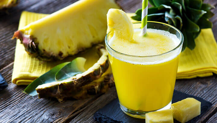 Pineapple juice contains bromelian to fight inflammation.