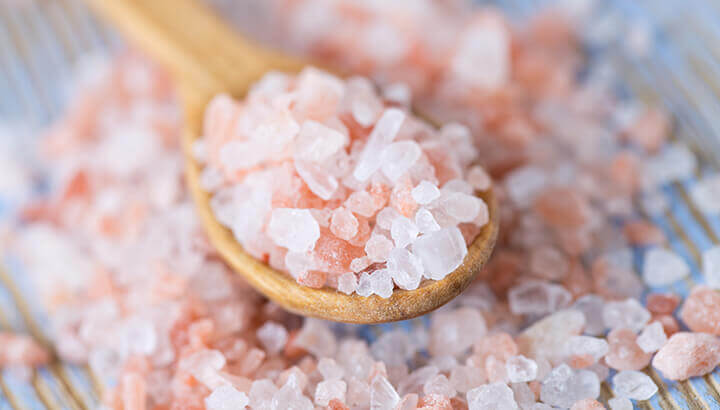 Pink salt boosts electrolytes to relieve migraine pain.