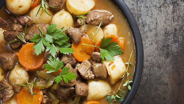 Potatoes can absorb excess salt in a stew.