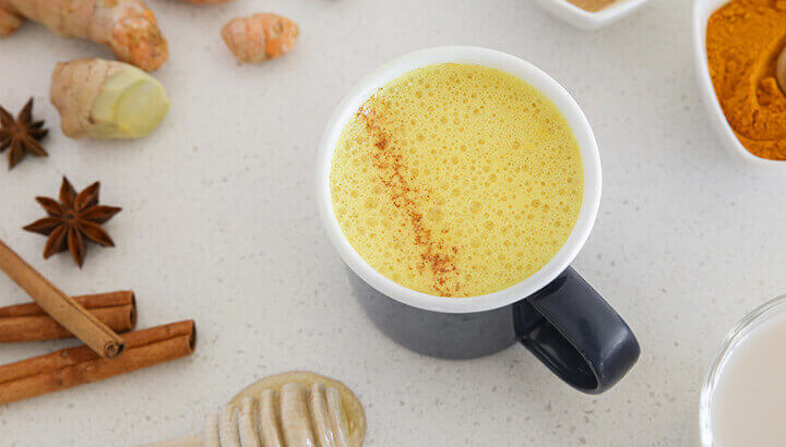 Put turmeric paste into golden milk for a healthy nighttime drink.