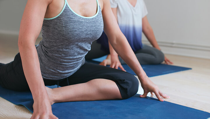Release tension in the hips and improve libido with pigeon pose.