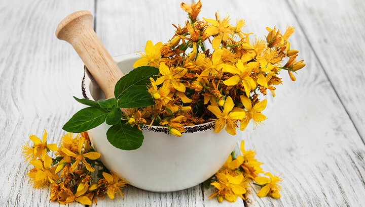 Unlike antidepressants, St. John's Wort has few side effects.
