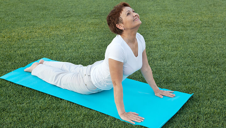 Yoga can calm the mind while you quit smoking.